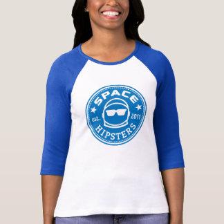 Hülse Jersey Raum Hipsters® Frauen des Logo-3/4 T-Shirt