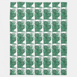 Hülsegrüner Fleecedecke