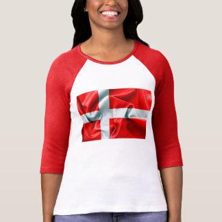 Hülsen-T - Shirt Dänemark-Flaggen-3/4