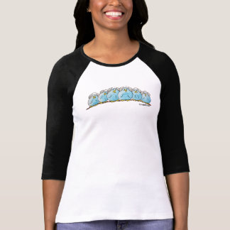 Hülsen-T - Shirt LimbBirds Frauen des Raglan-3/4