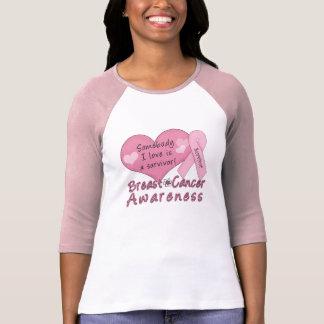 HülseRaglan des Brustkrebs-Überlebend-3/4 T-Shirt