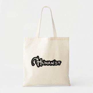 Humanist in Schwarzweiss Tragetasche