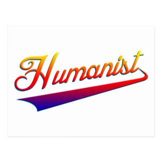 Humanist-OrangeSwash Postkarte