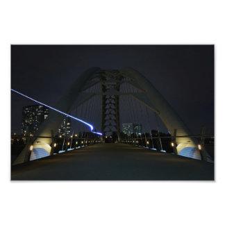 Humber Bucht-Bogen-Brücken-heller Streifen Fotodruck