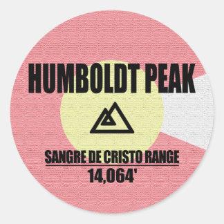 Humboldt-Spitze Runder Aufkleber