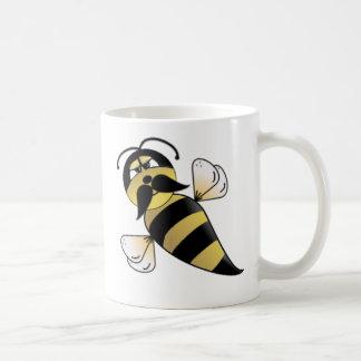 Hummel-Biene mit dem Schnurrbart Tasse