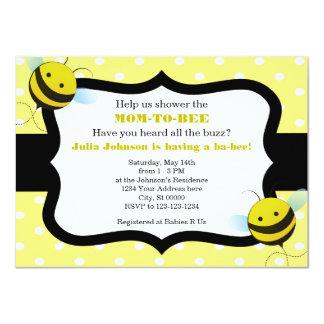Hummel-Bienen-Baby-Duschen-Einladung Karte
