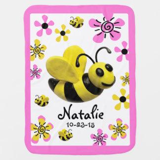 Hummel-Bienen-Baby-Mädchen-Dusche Baby-Decken