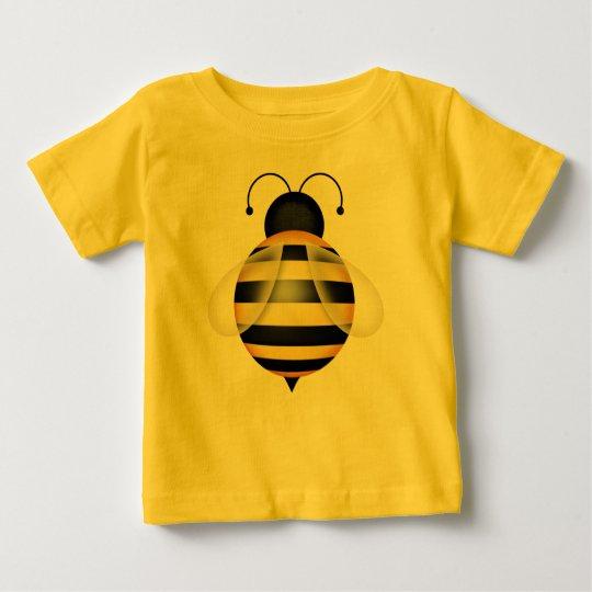 Hummel-Bienen-schwarze und gelbe Baby T-shirt