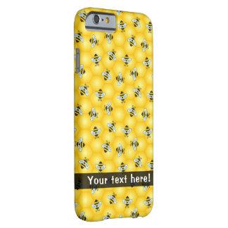 Hummel-Bienen-und Bienenwaben-Muster Barely There iPhone 6 Hülle