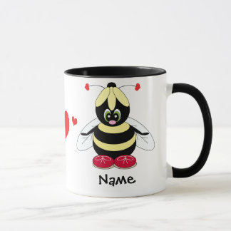 Hummel mit der Herz-Liebe-Tasse Tasse