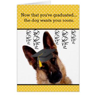 Humorvolle Abschluss-Karte mit Schäferhund Karte