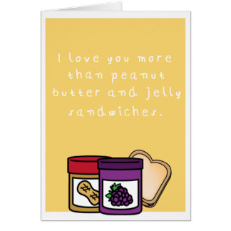 Humorvolle Erdnussbutter und Geleesandwich Karte