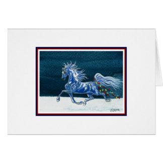 Humorvolle Pferdeweihnachtskarte Karte