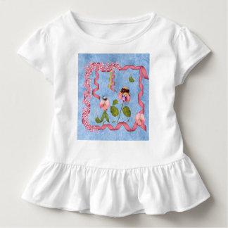 Humorvolle süße Erbsen rosa u. malvenfarbene Kleinkind T-shirt