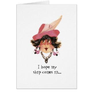 Humorvolle wunderliche Dame Card Karte