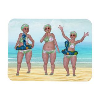 Humorvoller badenschönheits-flexibler Magnet