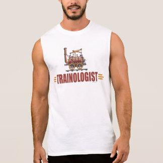 Humorvoller Eisenbahn-Zug Ärmelloses Shirt