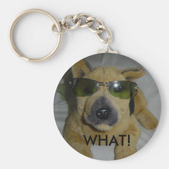 Humorvoller Hund in den Gläsern Schlüsselanhänger