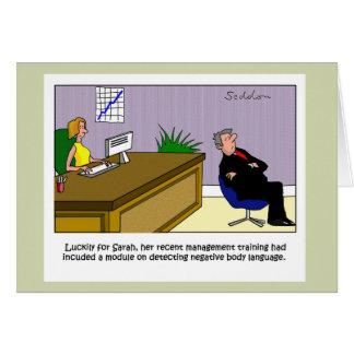 Humorvoller und ursprünglicher Cartoon durch Mike Karte