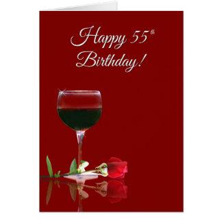 Humorvoller Wein, der Karte des Geburtstags-55