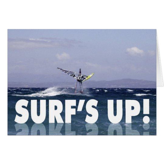 Humorvoller Windsurfer-Geburtstag für ihn Karte