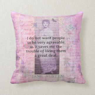 Humorvolles snarky Zitat Jane Austens dekorativ Kissen