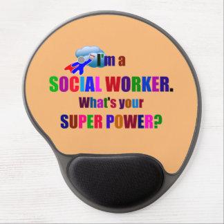 Humour de super héros d'assistant social tapis de souris en gel