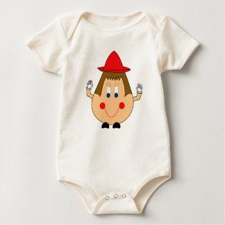 Humpty Dumpty Art-Ei-Mann. Wunderlich und Spaß Baby Strampler