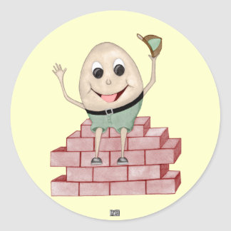 Humpty Dumpty Runder Aufkleber