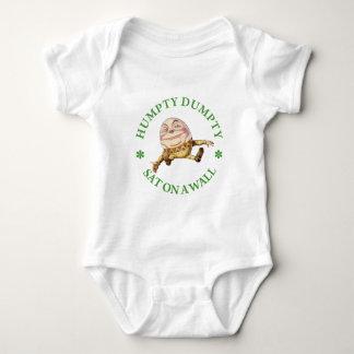 Humpty Dumpty SAT auf einer Wand Baby Strampler