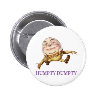 HUMPTY DUMPTY SAT SUR UN MUR - COMPTINE BADGE ROND 5 CM