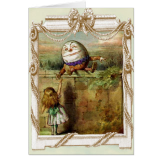 Humpty Dumpty und Alice Karte