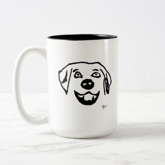 Hund - Adolf Lorenzo Zweifarbige Tasse