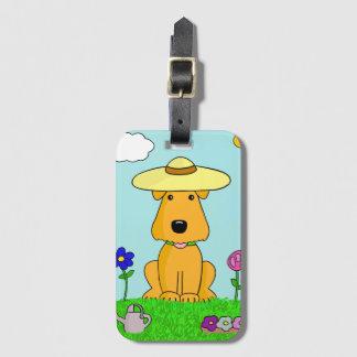 Hund Airedales Terrier im Garten-Gepäckanhänger Gepäckanhänger