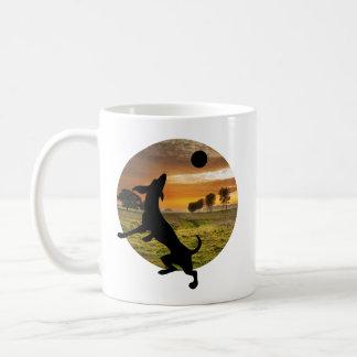 Hund am Spiel Kaffeetasse