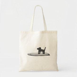 Hund auf einem Brett Taschen
