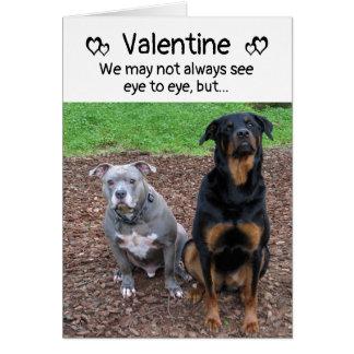 Hund bellt und Schuss-Valentinstag-Karte Karte