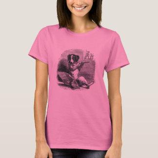 """""""Hund, der die Flöten-"""" Vintage Illustration T-Shirt"""