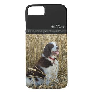 Hund, der Feld-im kundenspezifischen iPhone 7 Hülle