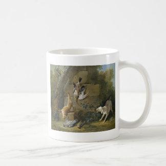 Hund, der totes Spiel durch Jean-Baptiste Oudry Kaffeetasse