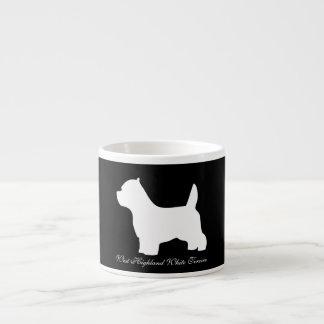 Hund des Westhochland-weißen Terriers, westie Espressotasse