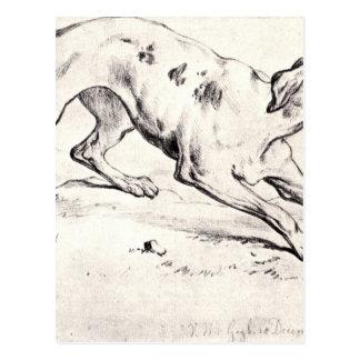 Hund durch Vincent van Gogh Postkarte