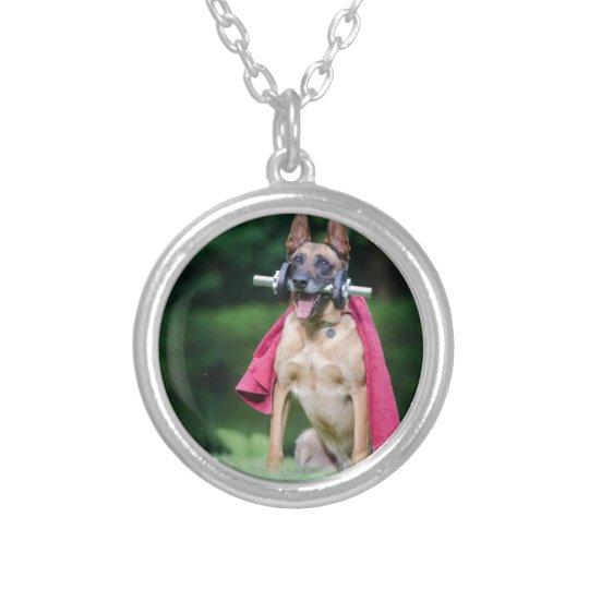 Hund Halskette Mit Rundem Anhänger