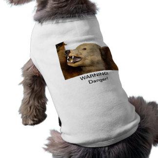 Hund, Haustier, Gefahr, Warnung, Bär T-Shirt