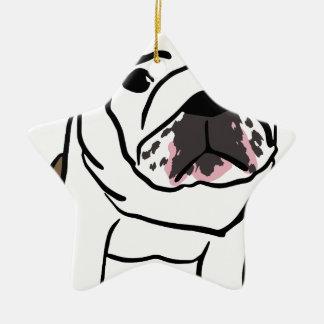Hund Keramik Ornament
