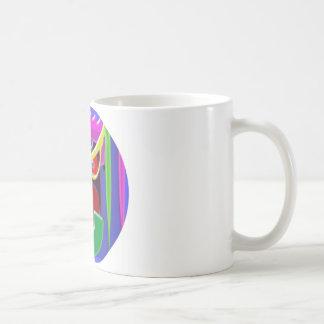 HUND mit einer Haltung Kaffeetasse