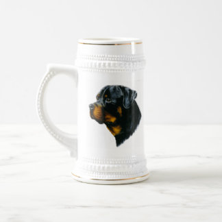 Hund-rottweiler Bierglas
