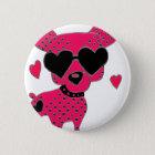 Hund Runder Button 5,1 Cm