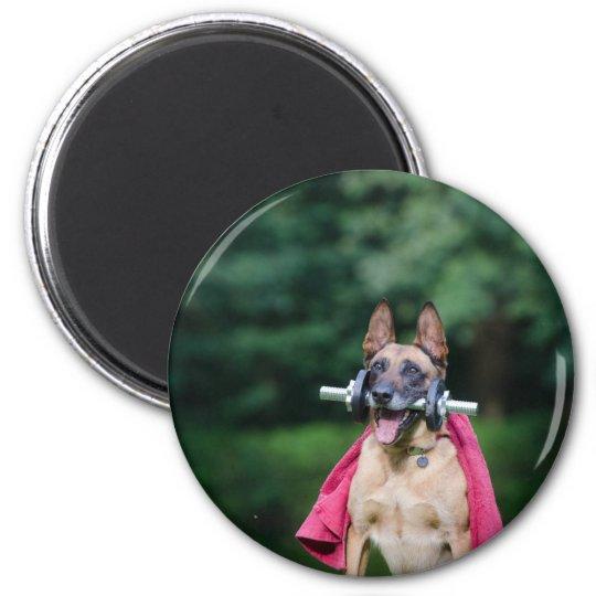 Hund Runder Magnet 5,7 Cm